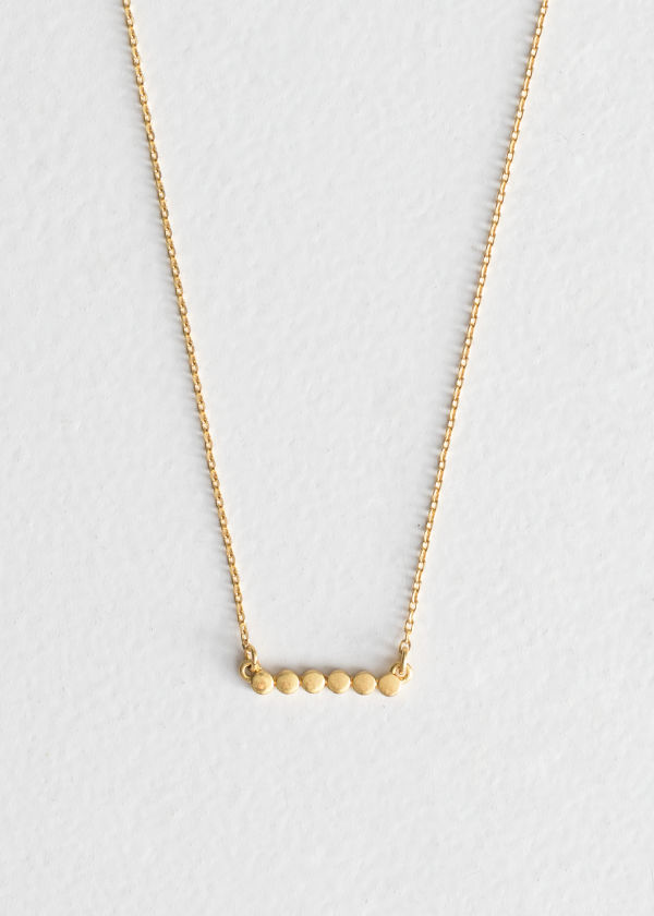 Six Dot Charm Necklace