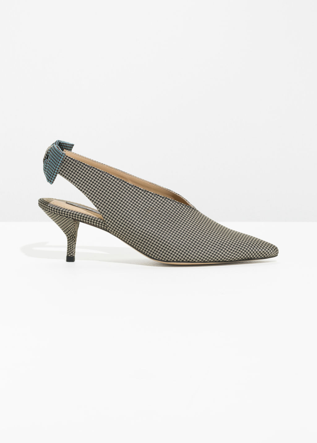& OTHER STORIES Kitten Heel Slingback Pumps - Grey a9OX7aeRQ