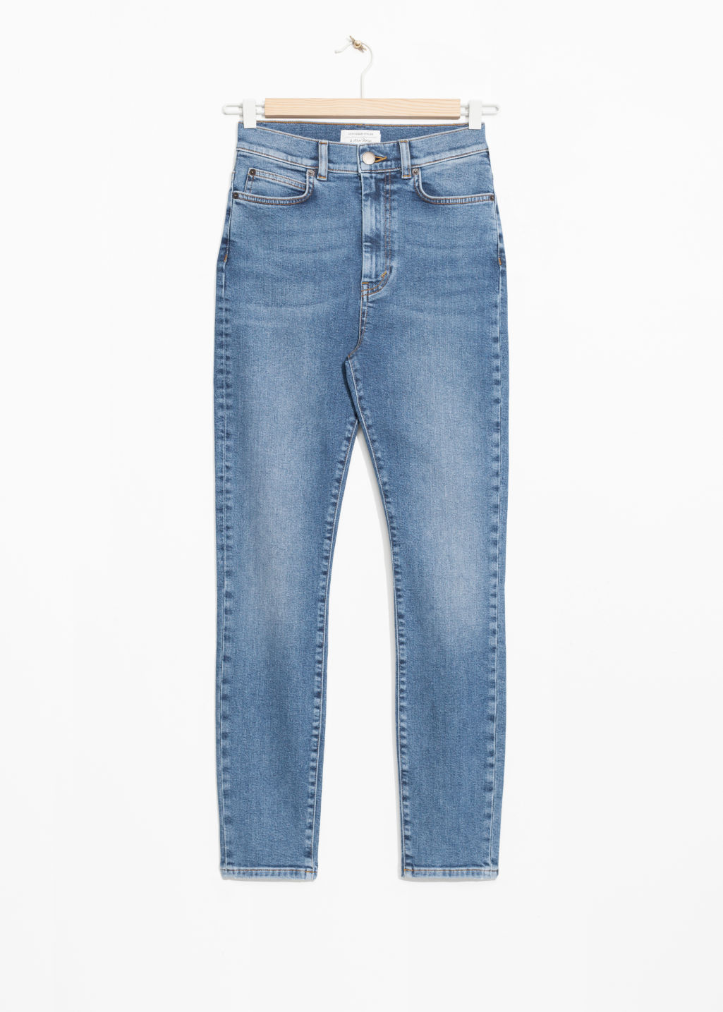 Front image of Stories high super slim jeans in blue