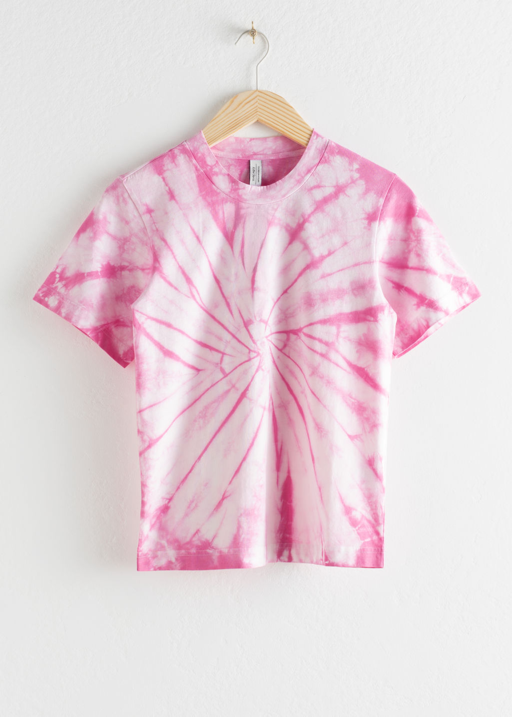 Front image of Stories graphic tee in pink