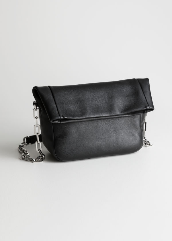 Fold Over Leather Bag