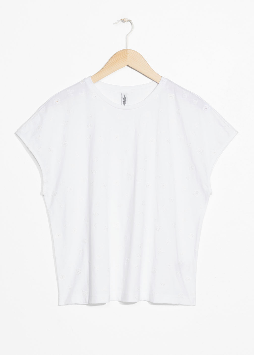 Front image of Stories basic relaxed fit t-shirt  in white