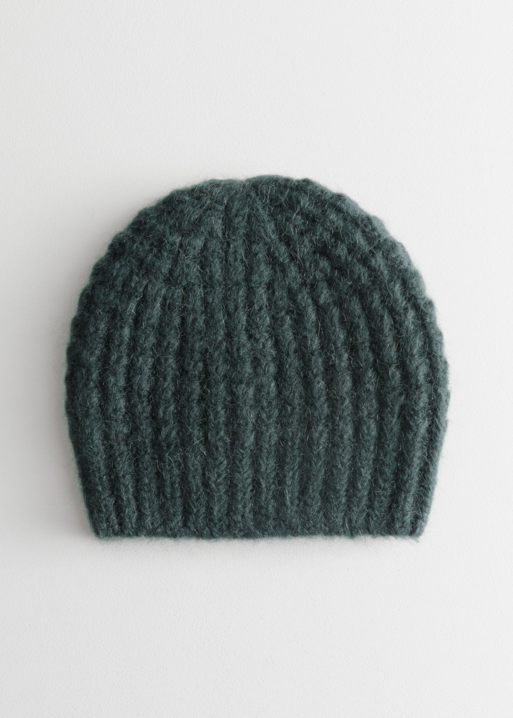 Cable Rib Knit Beanie - Green - Beanies -   Other Stories d882821d16e