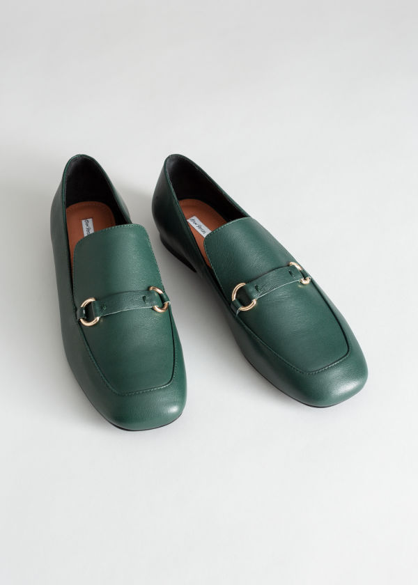 Square Toe Equestrian Loafer