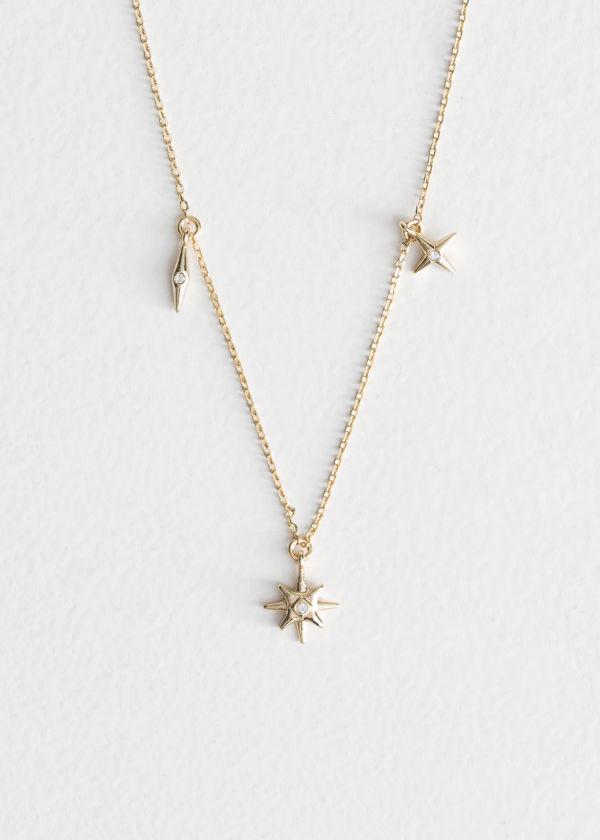 Pointed Star Charm Necklace