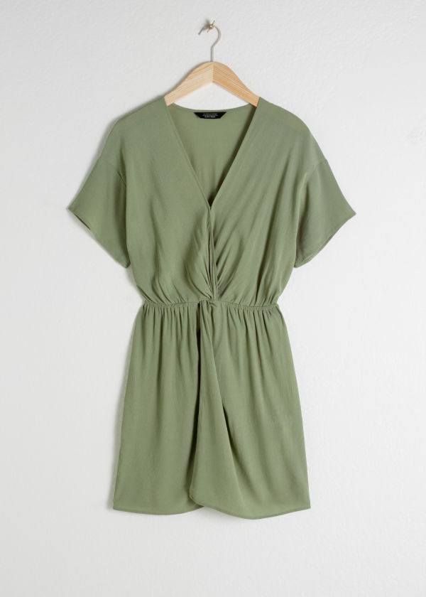 Twist Knot Mini Dress