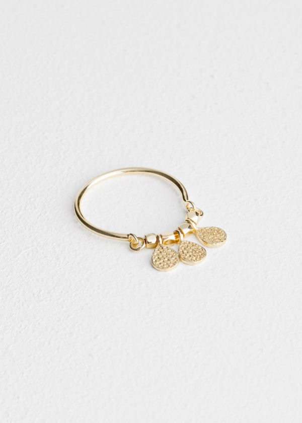 Trio Droplet Charm Ring
