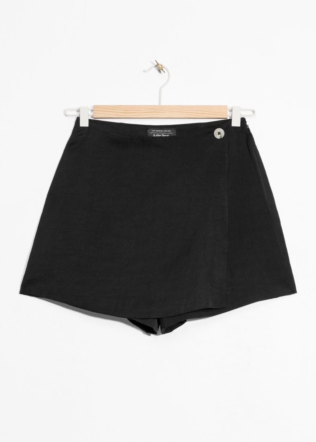 Front image of Stories high waisted skort  in black