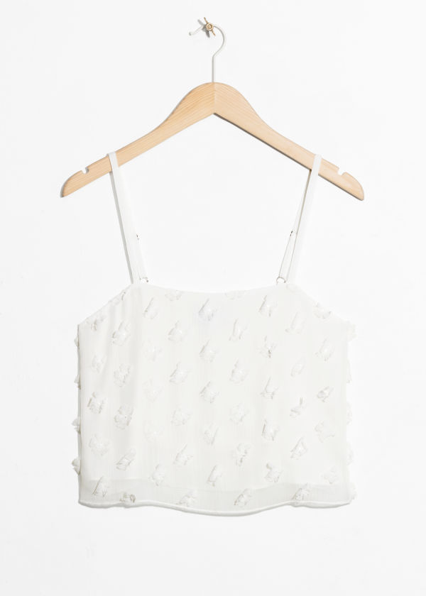 Cropped Micro Tassel Tank Top