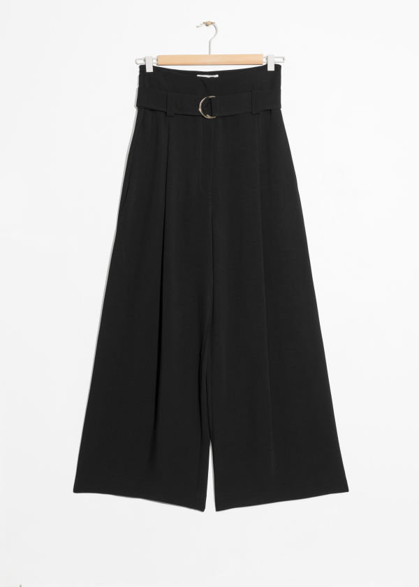 Belted Wide Trousers