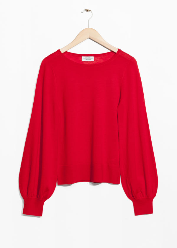 Billow Sleeve Sweater