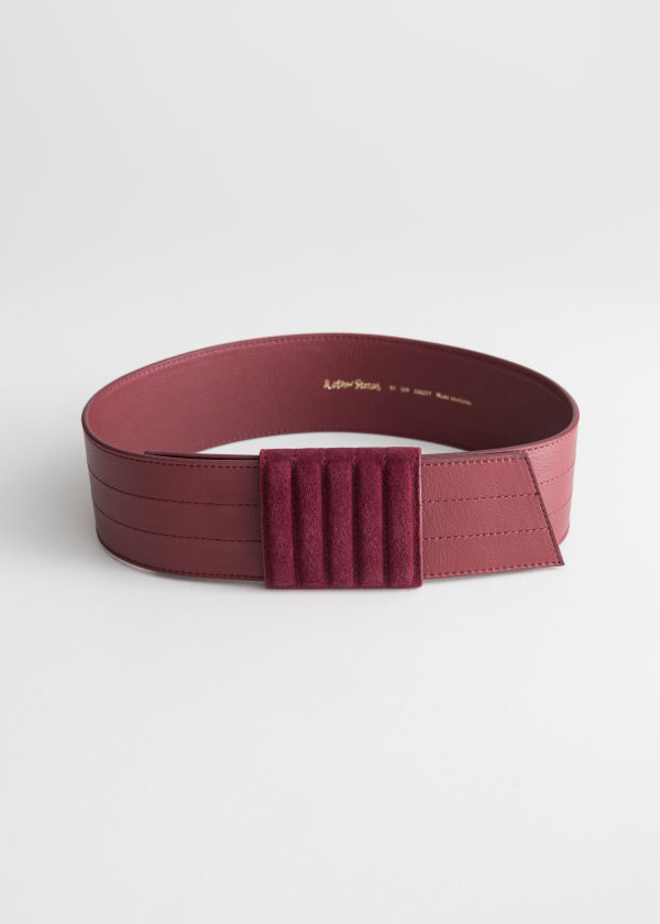 Leather Pull Through Belt