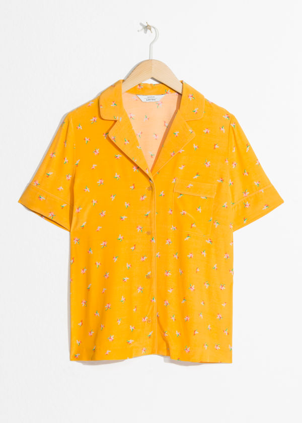 Tropical Flower Button Up