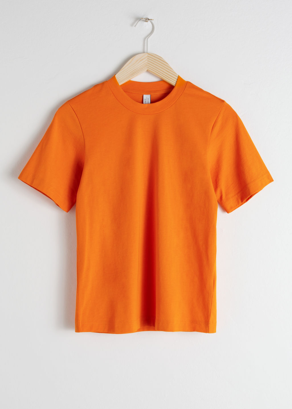 Front image of Stories basic straight fit t-shirt in orange