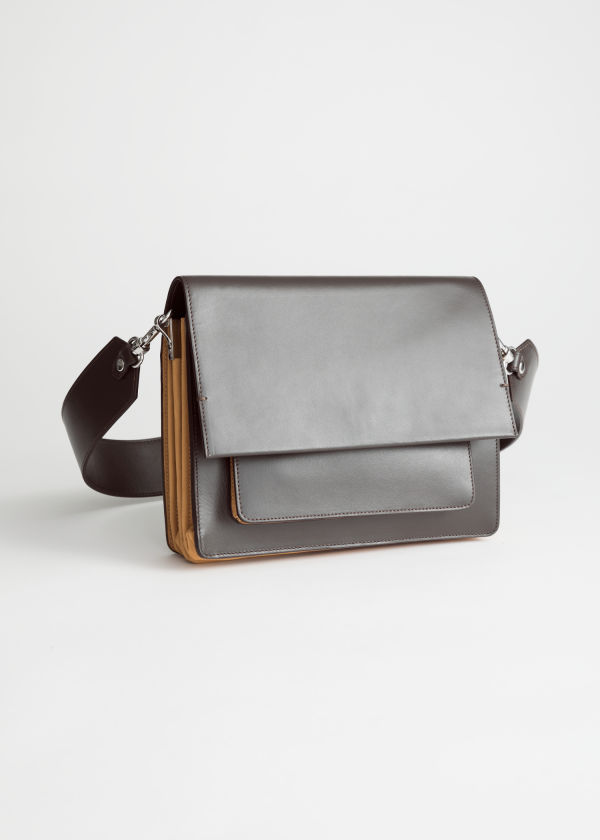 Short Leather Crossbody Bag