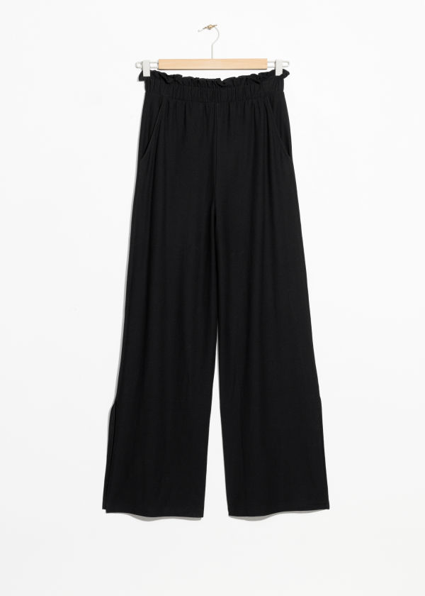 Paperwaist Side Slit Trousers