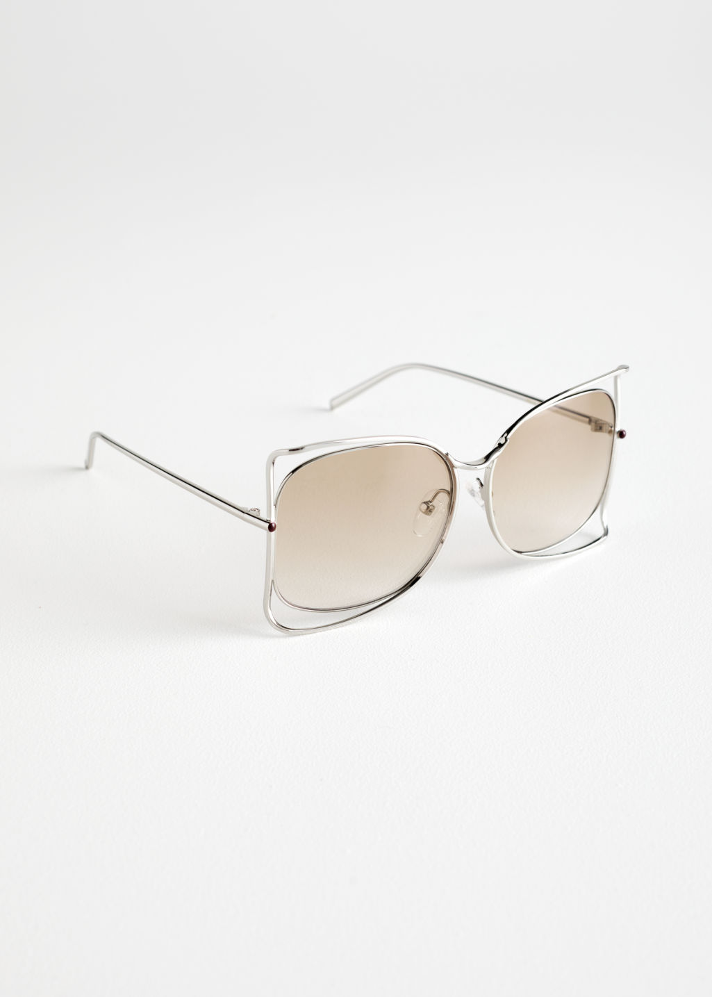 Butterfly Wire Frame Sunglasses