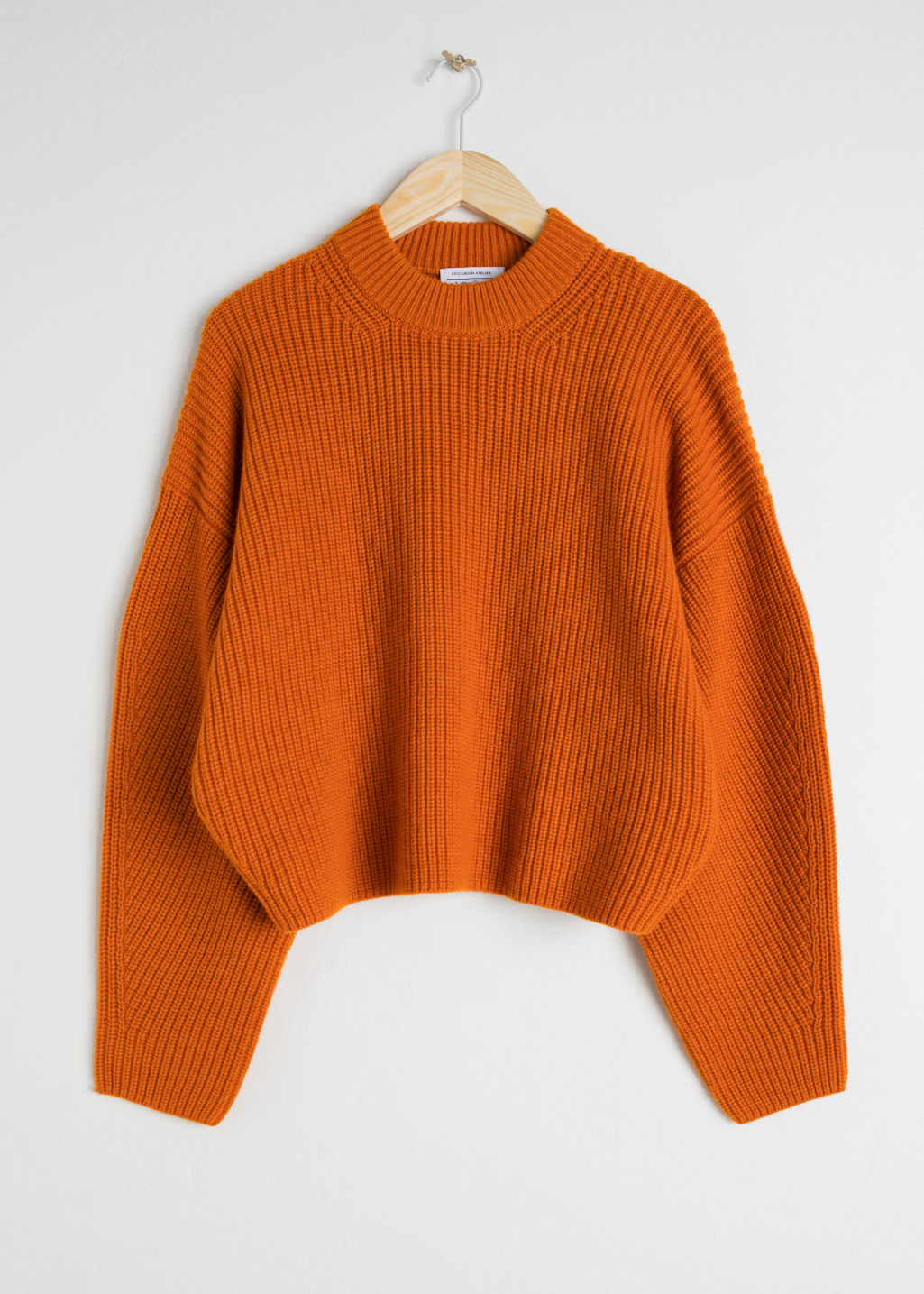 Wool Blend Rib Knit Sweater