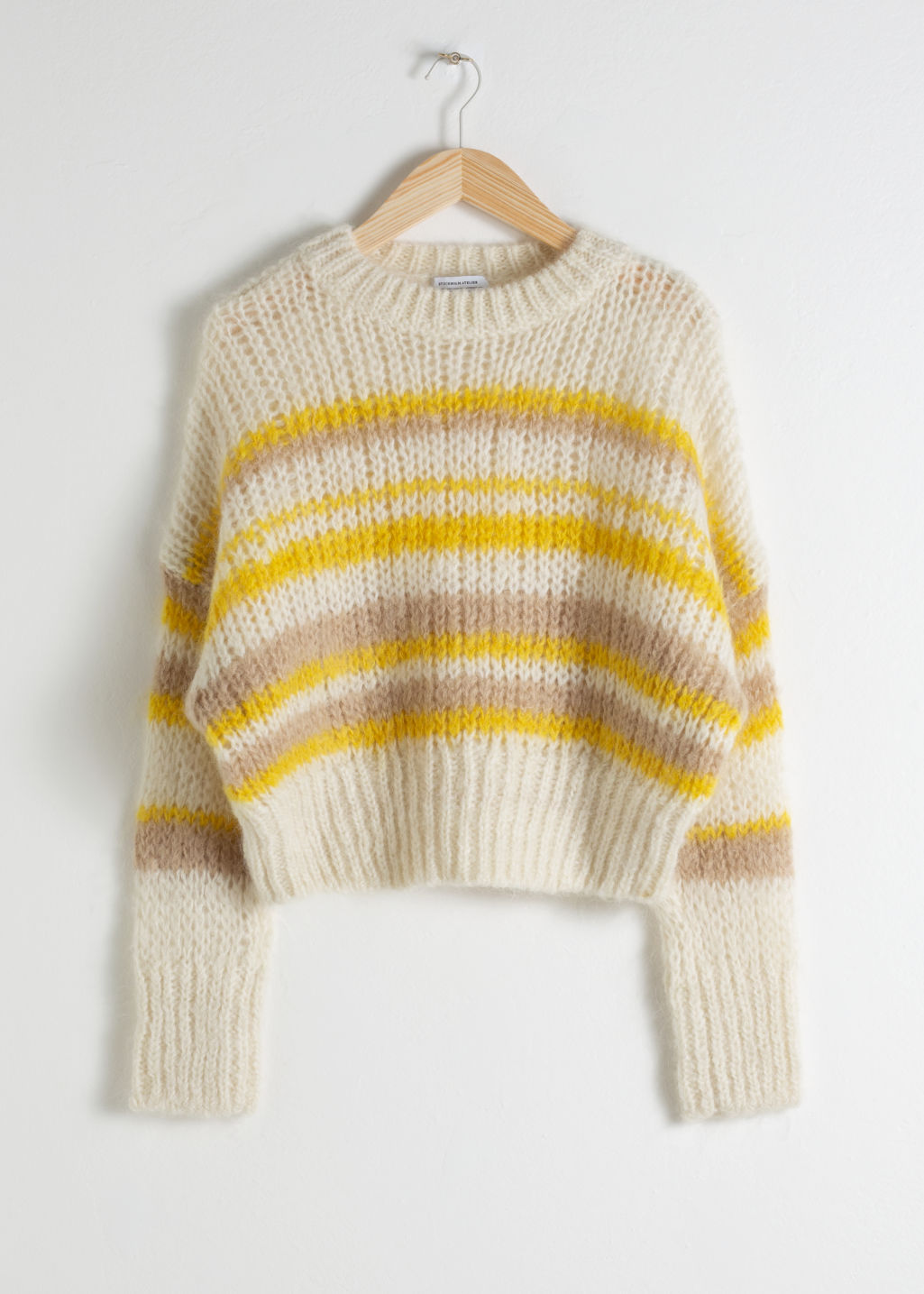34edbb62defb15 Wool Blend Chunky Knit Sweater - Cream - Sweaters - & Other Stories