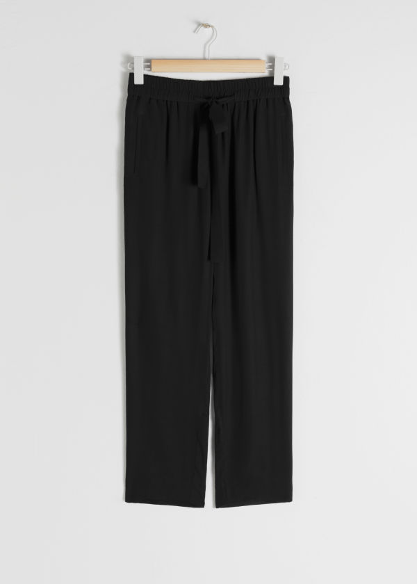 Cupro Blend Jogger Trousers