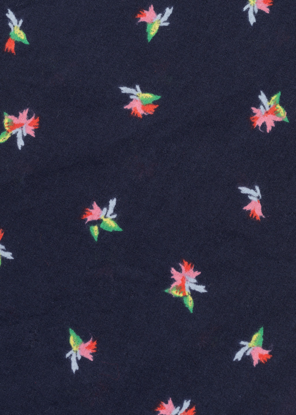 Back image of Stories tropical flower bandana scarf in blue