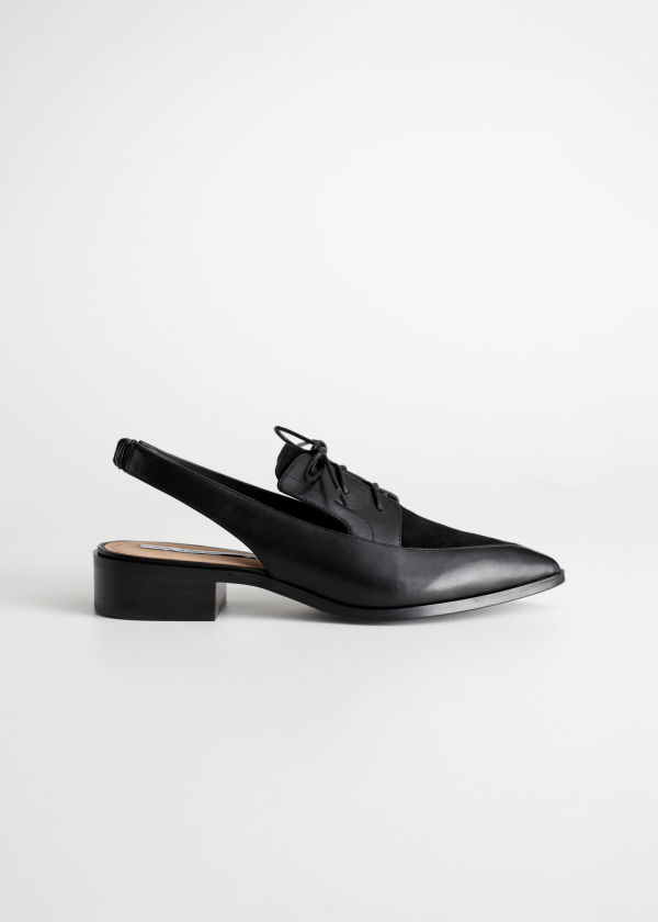 Pointed Slingback Oxfords