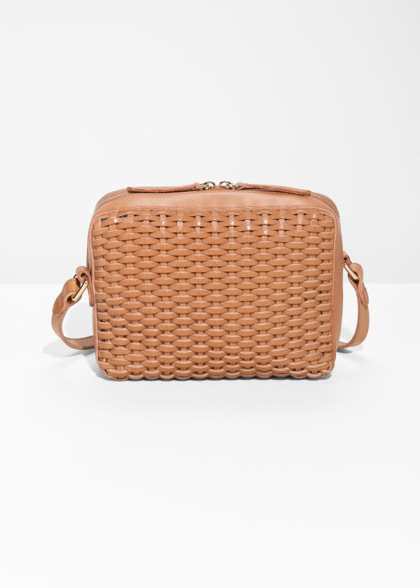 Basket Weave Crossbody Bag