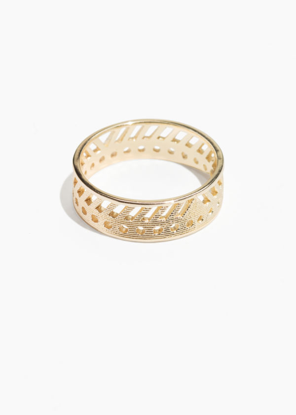 Geo Cut Out Ring