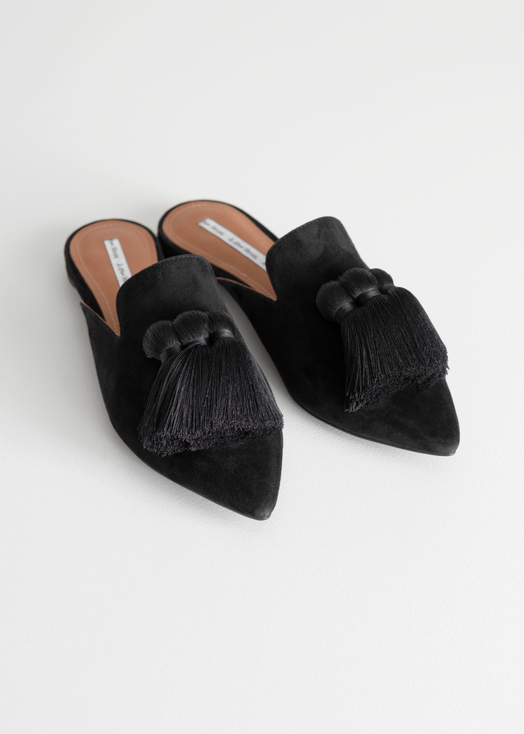 & OTHER STORIES Pointed Tassel Slip Ons WO1CrGQNH