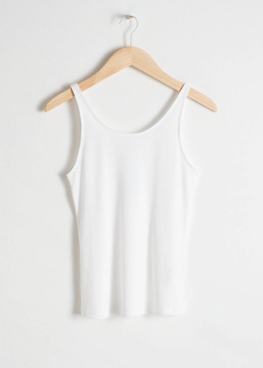 0be6d221f7be26 Fitted Scoop Back Tank Top - White - Tanktops   Camisoles -   Other ...