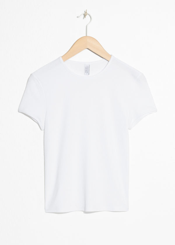 Fitted Ribbed Tee