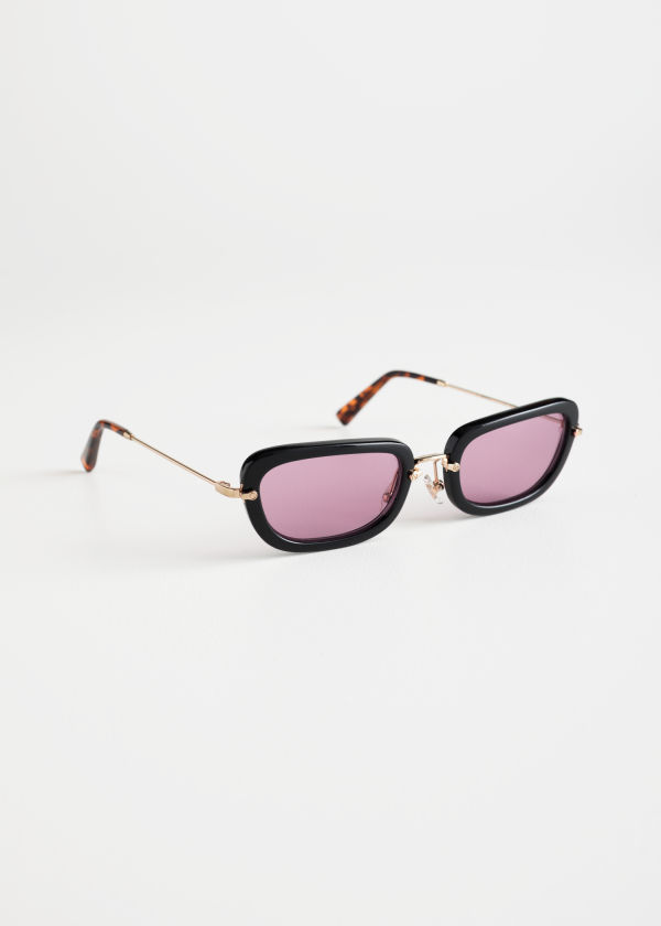 Squared Thick Frame Sunglasses