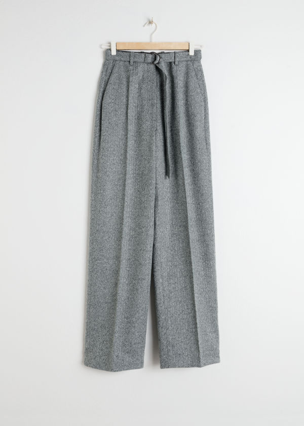 Duo D-Ring Herringbone Trousers