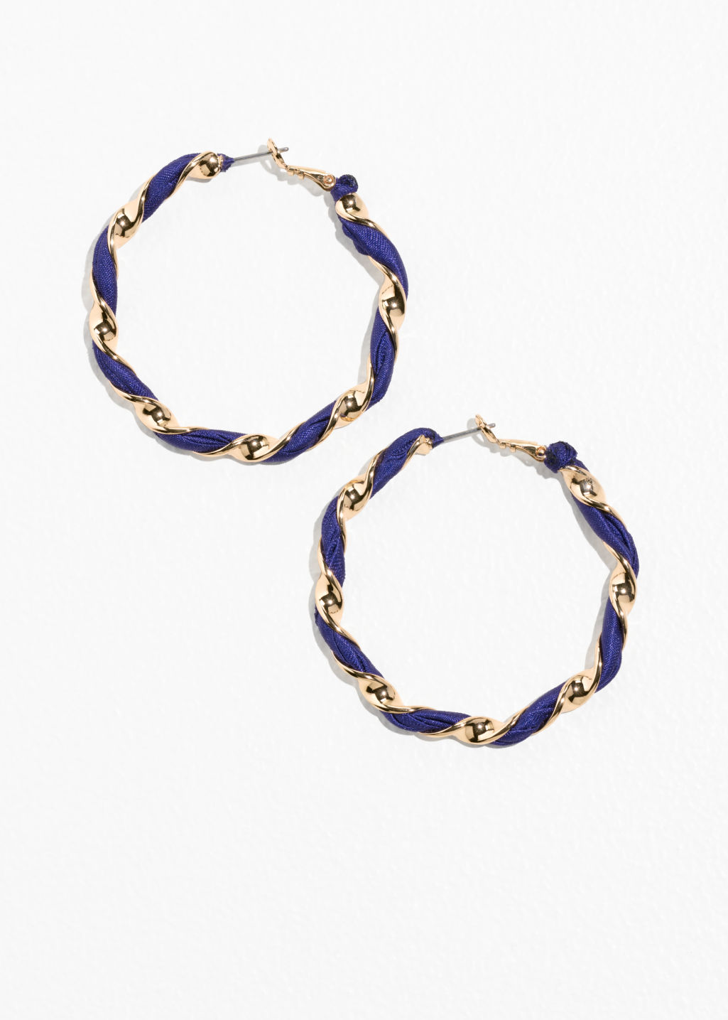 Twisted Ribbon Hoop Earrings
