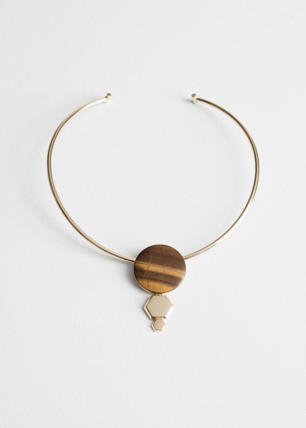 Hexagon Tigers Eye Choker