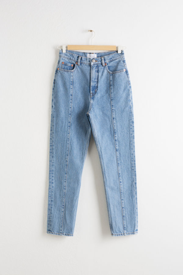 Tapered High Rise Jeans