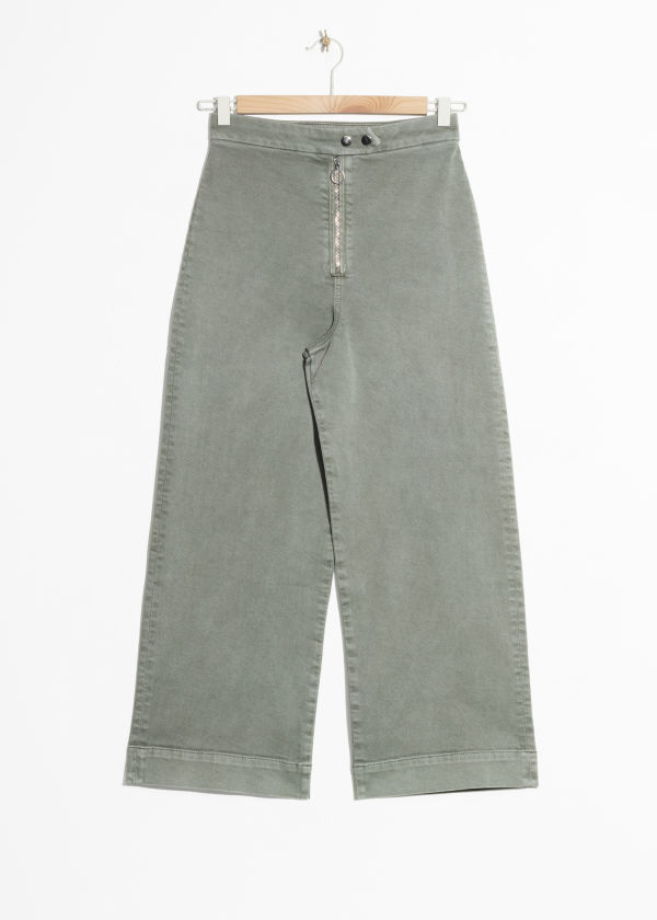 Faded Denim Culottes