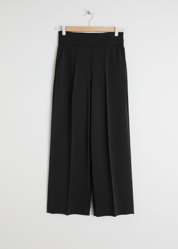 Cropped High Waisted Pants