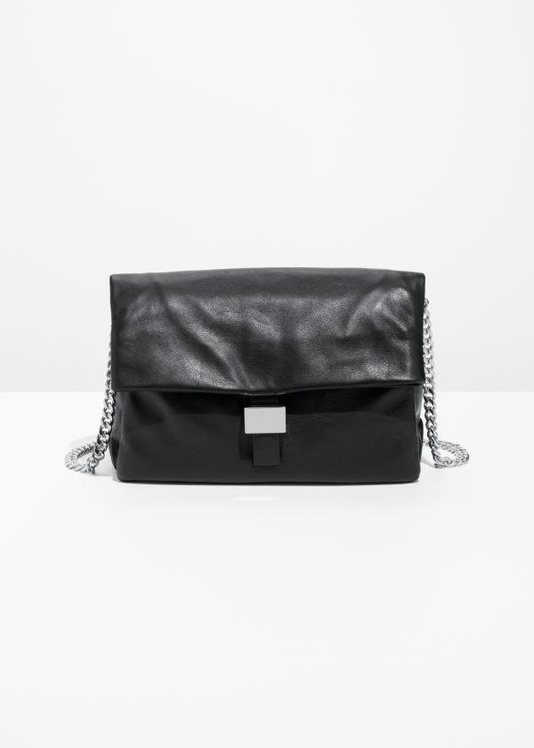 Leather Fold-Over Bag