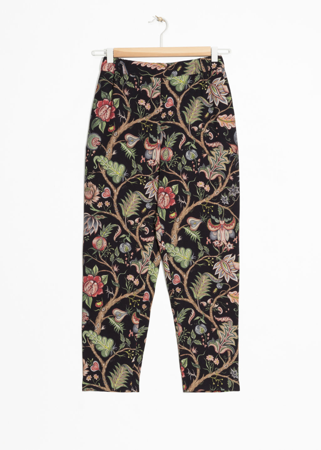 Front image of Stories house of hackney trousers in black