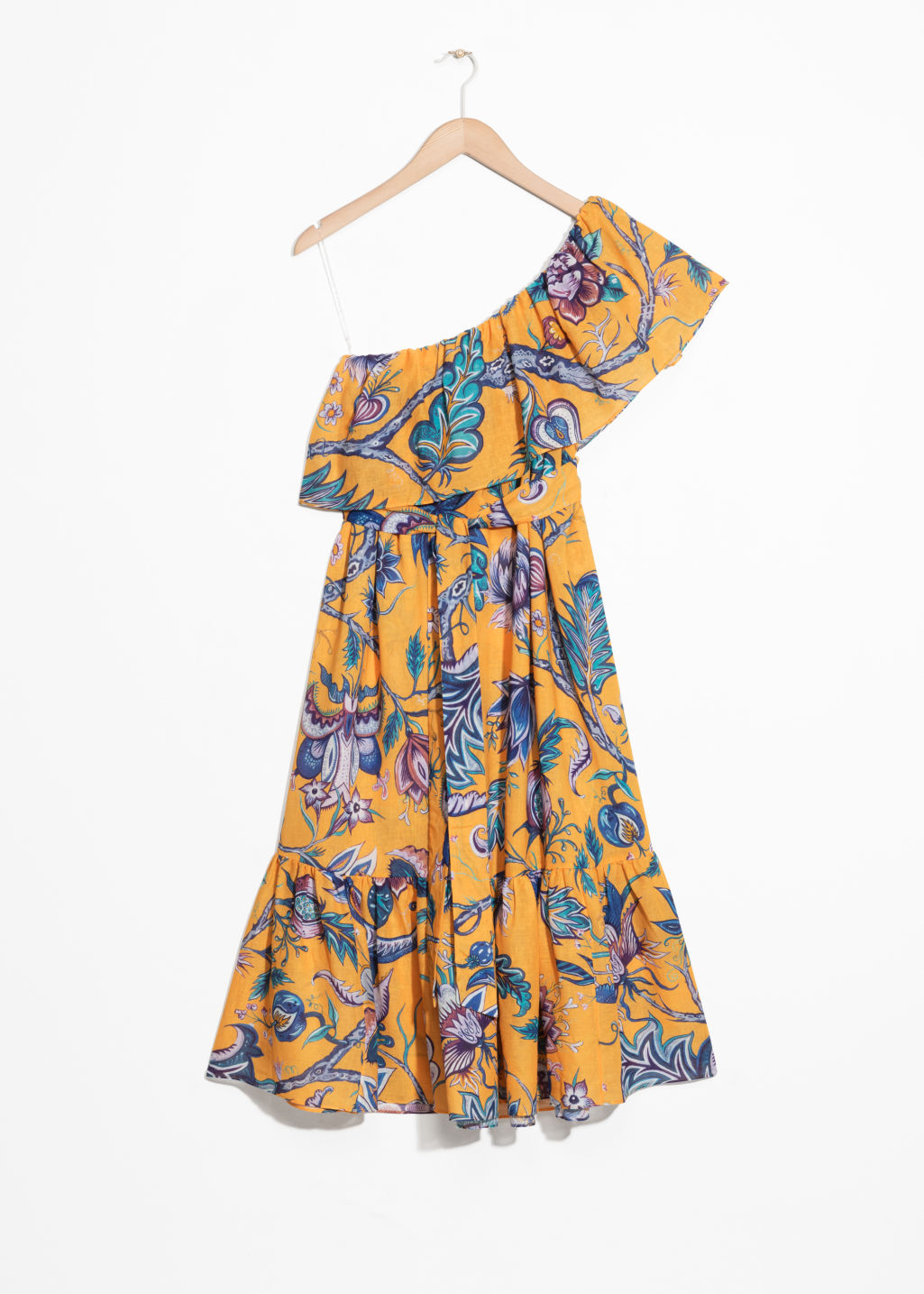 Front image of Stories house of hackney dress in yellow
