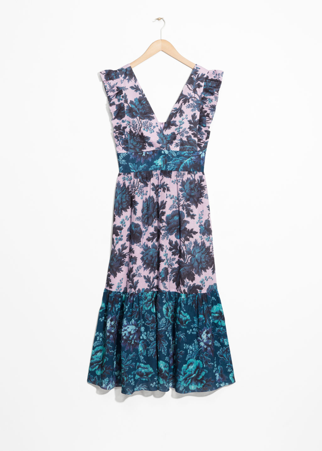 Front image of Stories house of hackney dress in blue