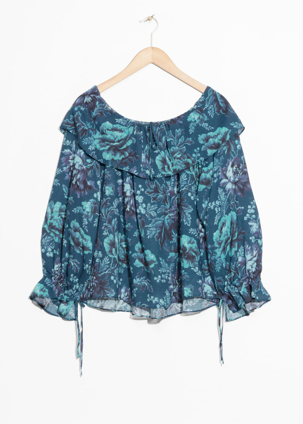 Front image of Stories house of hackney blouse in blue