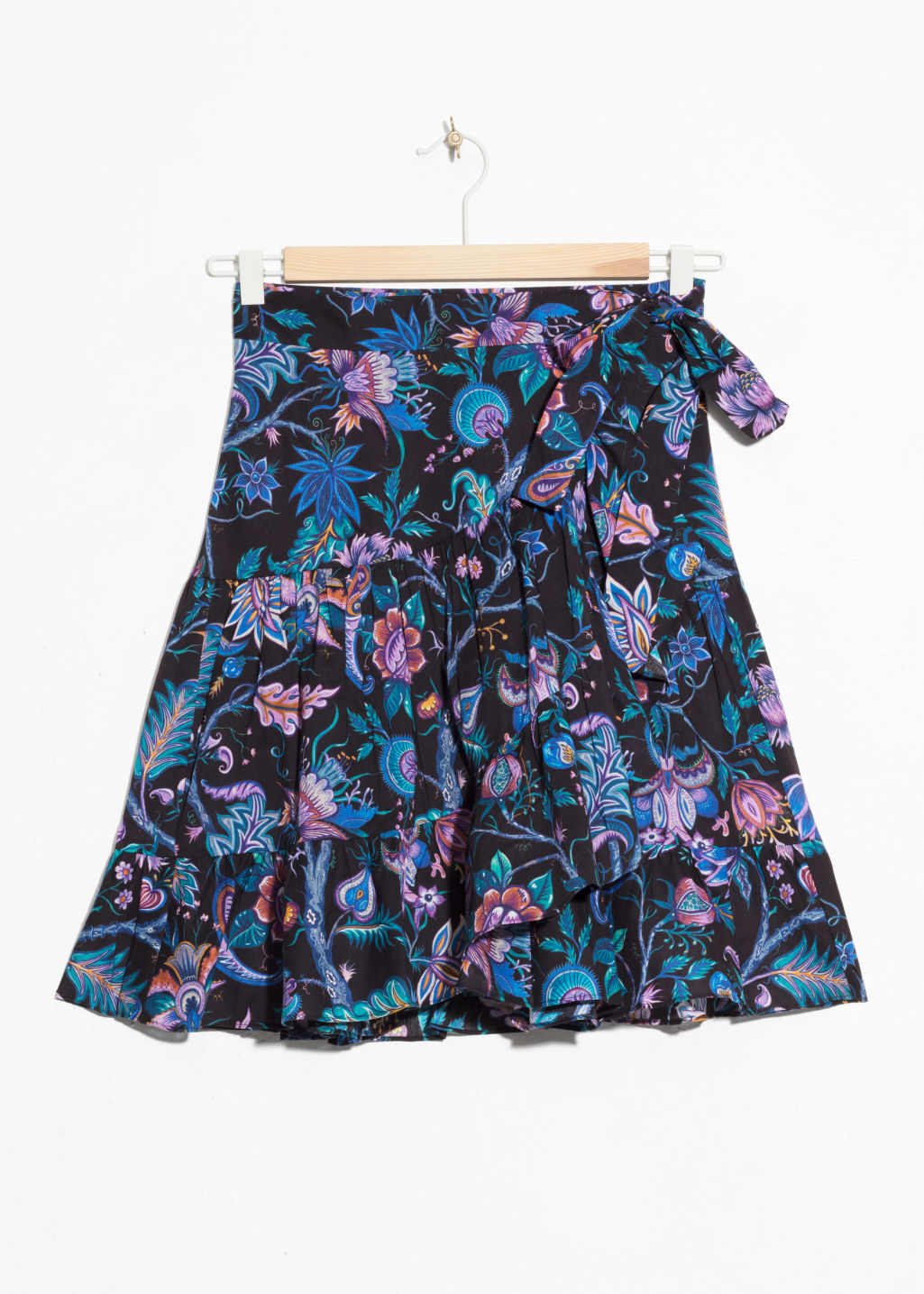 Front image of Stories house of hackney skirt in black