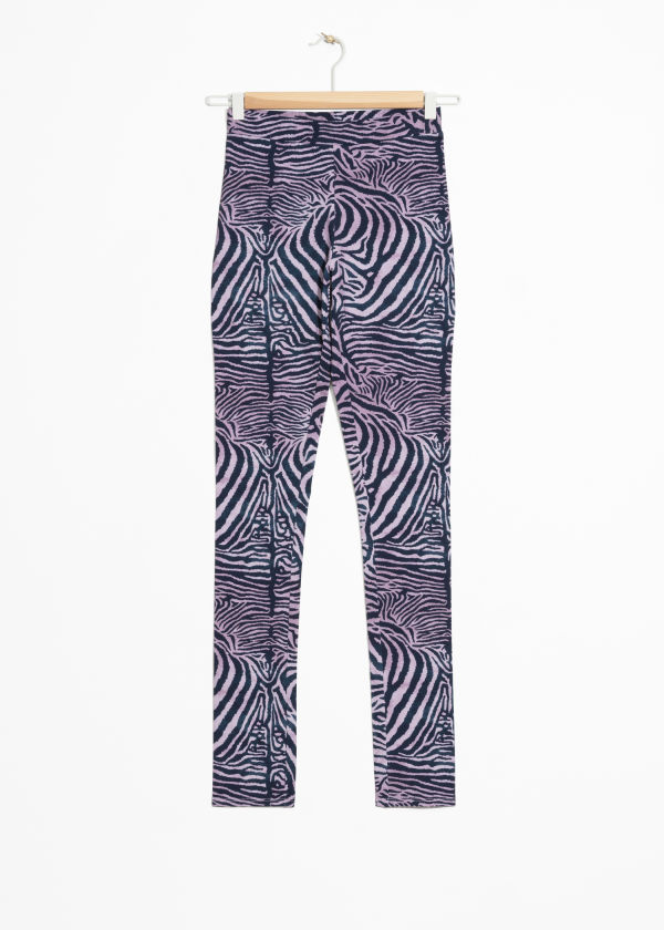 Front image of Stories house of hackney tights in purple
