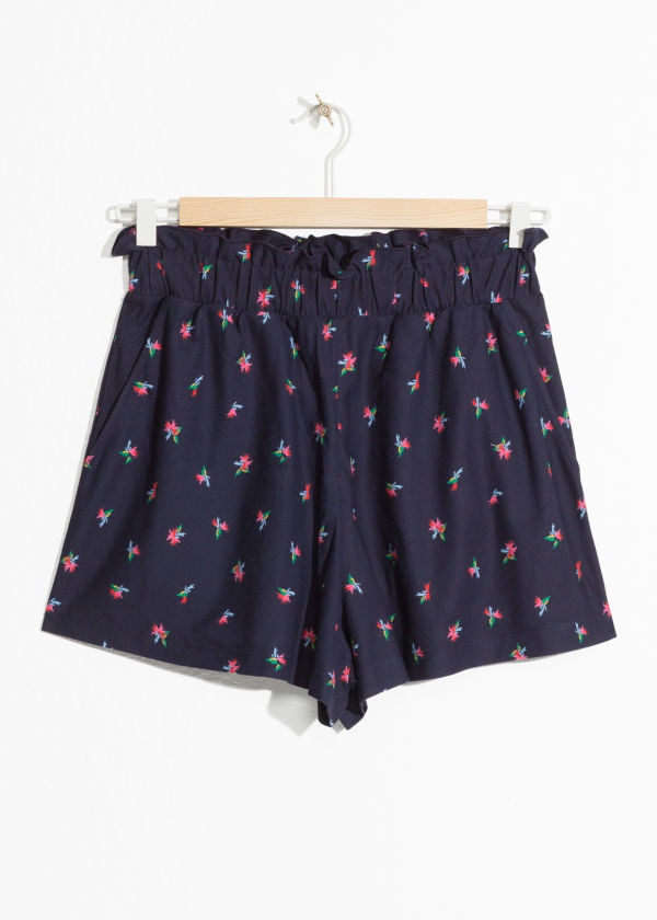 Tropical Paperbag Waist Shorts