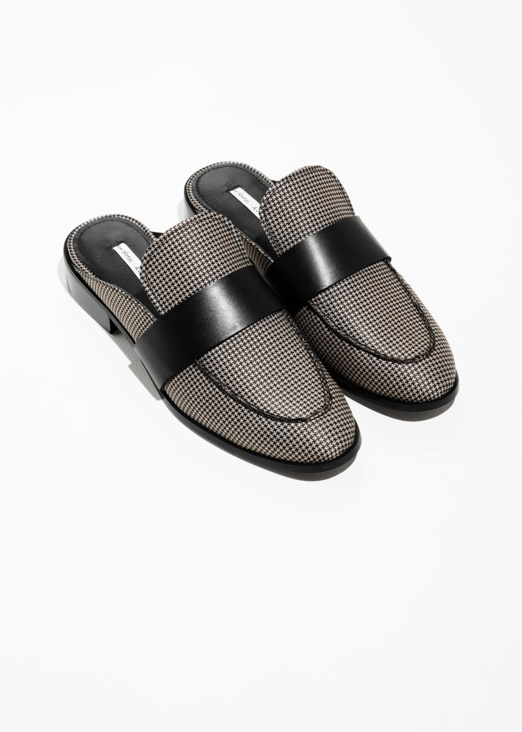 Back image of Stories slip-on loafers in grey