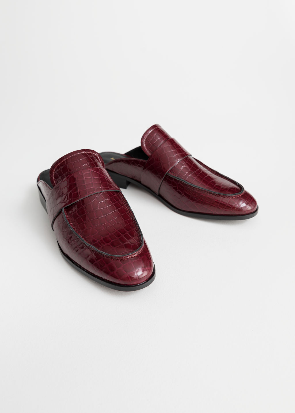 Back image of Stories slip-on loafers in red