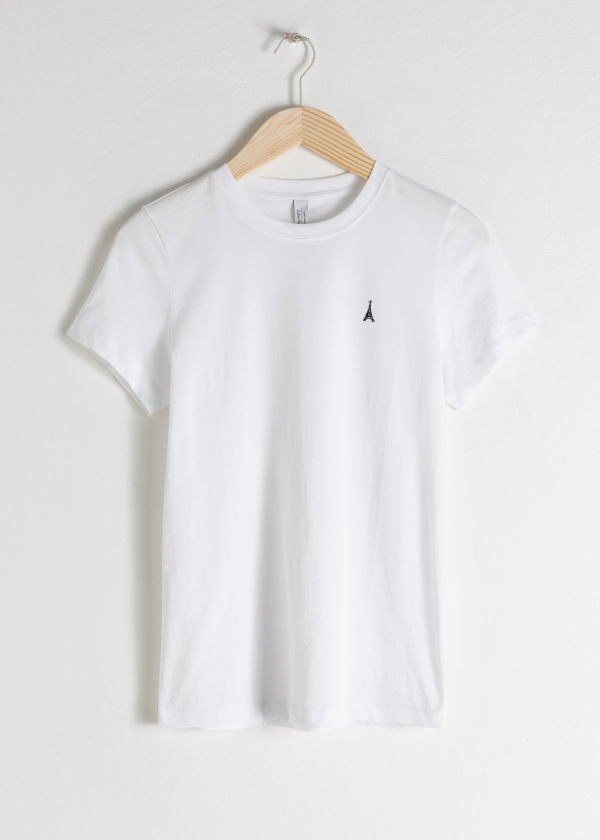 Embroidered Organic Cotton T-Shirt