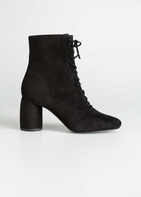 Lace Up Suede Boots